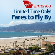 Virgin America's 單程機票促銷:特價$75起
