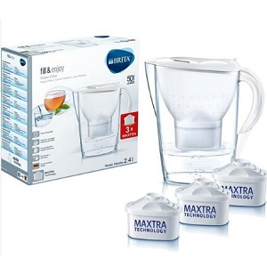 Brita 碧然德 濾水壺套裝一壺三芯 白色 2.4L