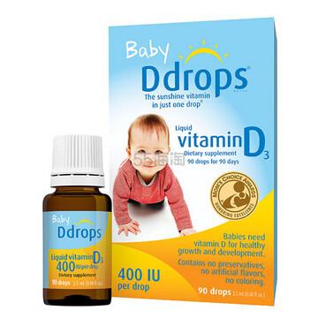 【第2件半价】Ddrops 婴儿维生素D3滴剂 90滴