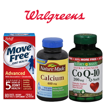 Walgreens 买1送1精选汇总:Schiff Move Free/Nature Made/自然之宝大牌折扣
