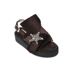 N°21 天鹅绒厚底鞋 $408.8(约2961元)