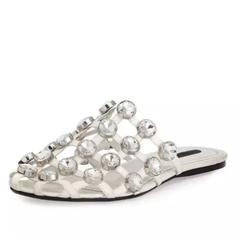 宇博 Chiara 同款 Alexander Wang 大王棋盘格穆勒拖鞋 $486(约3487元)