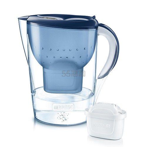 【中亚Prime会员】Brita 碧然德 Marella XL 蓝色滤水壶 3.5升 一壶一芯 到手价155元 - 海淘优惠海淘折扣|55海淘网