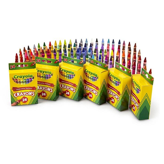 平价一盒14元!Crayola 绘儿乐 彩色蜡笔套装 24色*6盒装