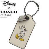 COACH Box Program Mickey Hangtag Key Fob 钥匙扣吊坠