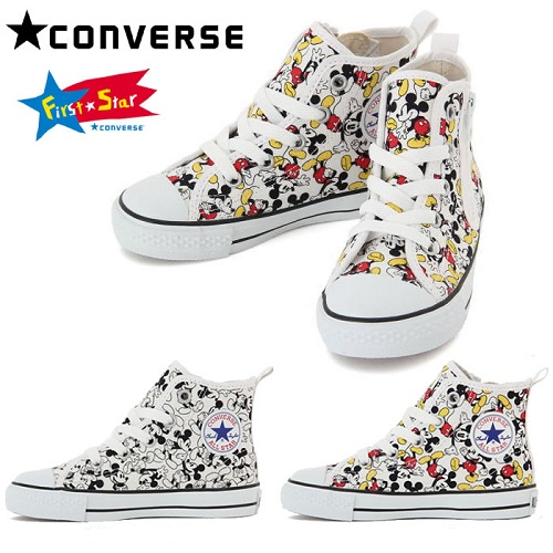 【9%超高返利+免费直邮中国】 Mickey Mouse x Converse All Star 全明星米老鼠匡威合作款儿童休闲鞋