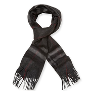 Burberry Cashmere Check Long Scarf 暗色调格纹围巾