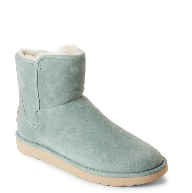 UGG AUSTRALIA Green Abree Short Fur-Lined Boots 薄荷绿雪地靴