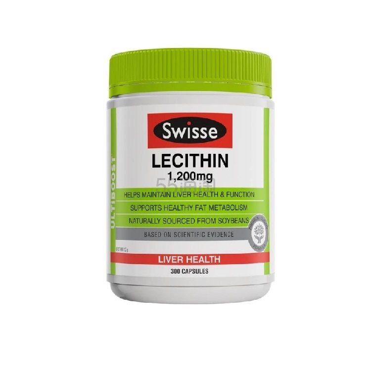 【价格再降】Swisse 大豆卵磷脂软胶囊 300粒 22.99澳币(约110元) - 海淘优惠海淘折扣|55海淘网