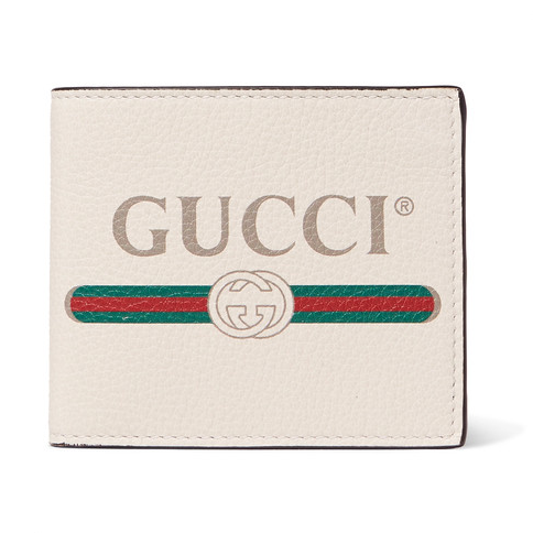 Gucci Printed Full-Grain 真皮皮夹