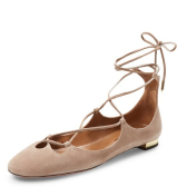 Aquazzura Leather Dancer Flat 绑带平底鞋 两色可选