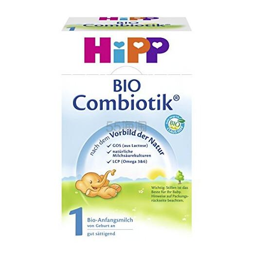 【中亚Prime会员】Hipp 喜宝 Combiotik 有机益生菌婴幼儿营养奶粉 1段 600g*4盒装