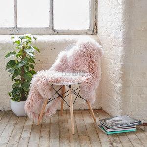 2.9折白菜价!Royal Dream 小羊皮羊毛地毯大号粉色