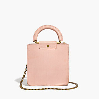 Madewell the irvine square crossbody bag 粉色方形斜挎包