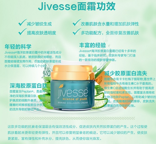买一送一,英国免费直邮,最低一瓶299元!Jivesse 胶原蛋白抗氧化霜 50ml £35(约299元)