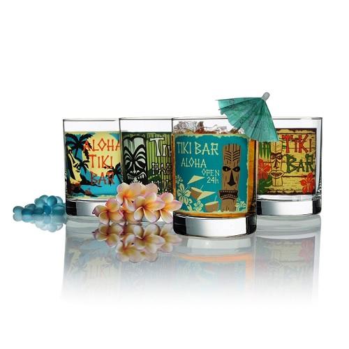 【中亚Prime会员】Luminarc 乐美雅 Tikis Decorated 艺术玻璃杯4件套 134元
