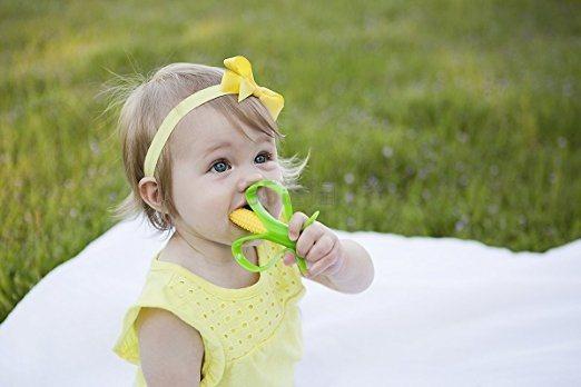 BABY BANANA 香蕉宝宝 玉米造型硅胶婴儿牙胶牙刷 $7.41(约50元)
