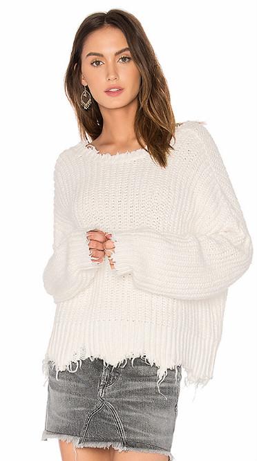 【杨幂同款】Wildfox Couture 不规则下摆设计 Oversized 针织上衣 4.4(约974元)