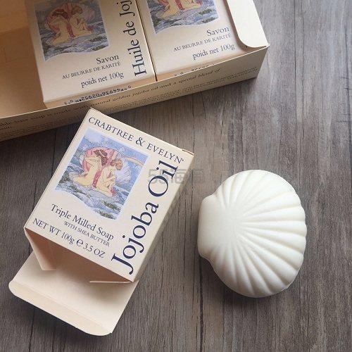 英国 Crabtree&Evelyn 瑰柏翠 荷荷巴油贝壳香皂100g×3块 (约122元)