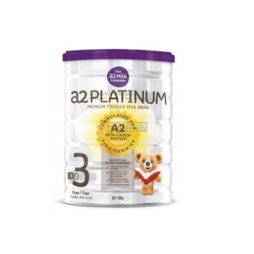 A2 白金系列3段幼儿配方奶粉 900g AU$29.95(约163元)