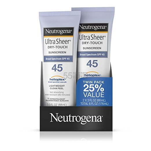 Neutrogena 露得清 Ultra Sheer Drytouch 清透防晒乳SPF45×2支 $10.68(约73元)