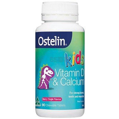 Ostelin 儿童维生素D+钙咀嚼片 90片 AU.99(约60元)