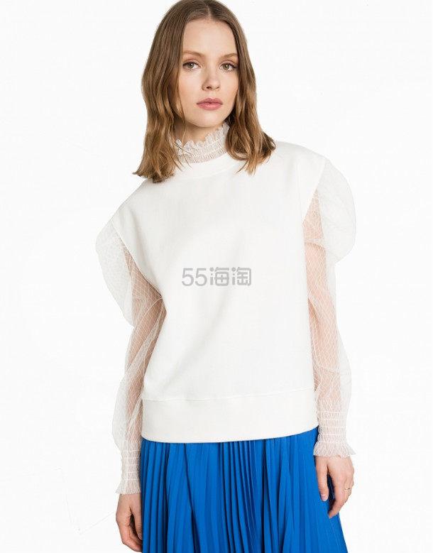 最In穿搭单品--网纱上衣+百褶裙 正当季的Looks 3(约1760元)