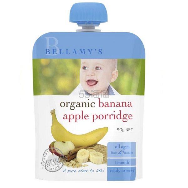 Bellamy's 贝拉米 有机香蕉苹果果泥辅食 90g AU<img src=