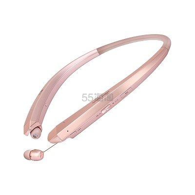 【美亚直邮】LG HBS-910 无线蓝牙颈戴式运动耳机 玫瑰金 $76.37(约553元)