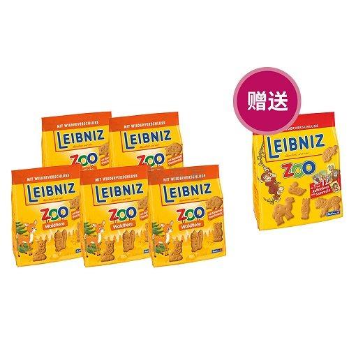 超值好价,买5送1!Leibniz 莱布尼兹 动物园饼干 125g*6 6.44欧(约47元)