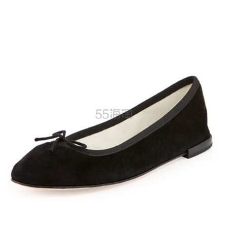 脚尖上的法式优雅 Repetto 绒面芭蕾舞平底鞋 $147(约1065元)