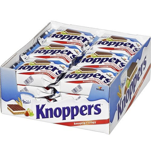 德国直邮!Knoppers 牛奶榛子巧克力威化饼 25g*24包 7.64欧(约59元)