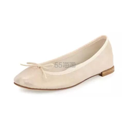 Repetto 金属绒面芭蕾舞平底鞋 4(约1478元)