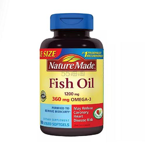 买1送1!Nature Made 天维美 深海鱼油 1200mg 180粒 .99(约145元)