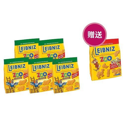 德国直邮!Leibniz 莱布尼兹动物园饼干 燕麦味 125g*6袋 6.44欧(约50元)