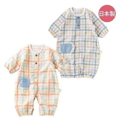 日本制:Mapleland 麦宝莲 和风 针织棉 宝宝两穿连体衣50~60cm 3564日元(约228元)