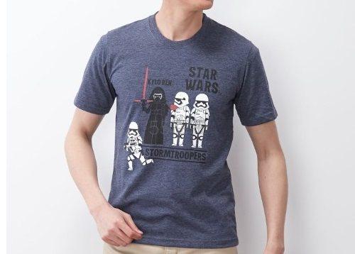 Belle Maison 千趣会 Star wars 星球大战 男款短袖T恤 1598日元(约96元)