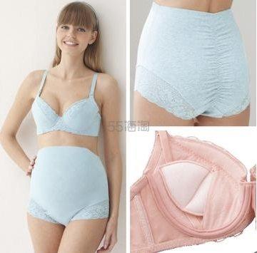 日本 Monterre 梦特露 孕产妇 丝滑聚拢内衣内裤套装 1089日元(约69元)