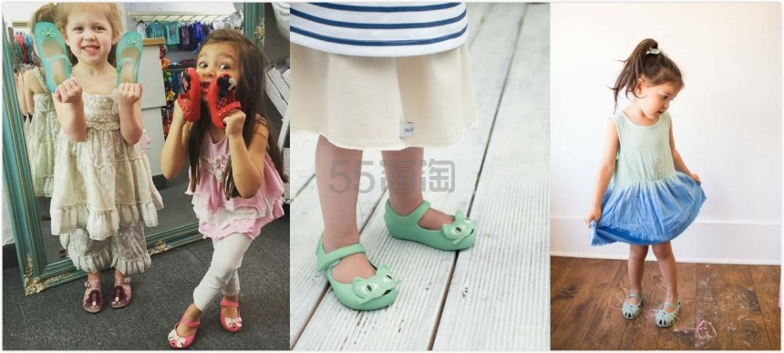 【.98起】Saks Off 5th 官网:精选 Mini Melissa 童款果冻鞋 低至4折