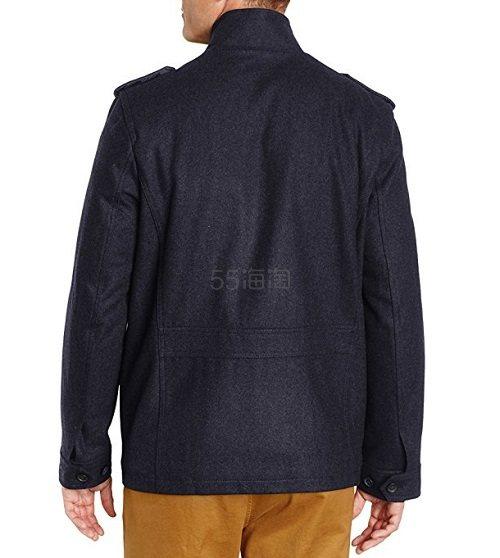 反季低价!【美亚直邮】Tommy Hilfiger Melton 男士肩扣款羊毛大衣 .3(约183元)