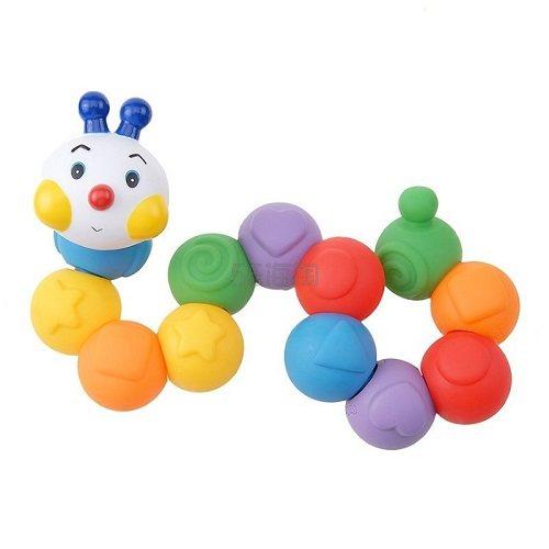 【中亚Prime会员】K's Kids 奇智奇思 启智系列 益智早教玩具 适合6个月以上宝宝 百变组合毛毛虫 到手价174元