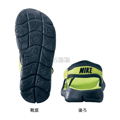 6折!Nike 耐克 Sunray Adjust 4大童款魔术贴凉鞋 特价2192日元(约140元)
