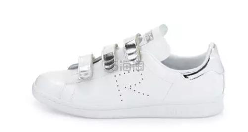 不易撞款的Stan Smith!Adidas by Raf Simons 限量款金属皮制魔术贴小白鞋 $186(约1347元)