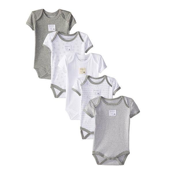 【美亚直邮】Burt's Bees Baby 100%有机棉材质婴儿爬行服连体衣 5件套 $12.47(约90元)