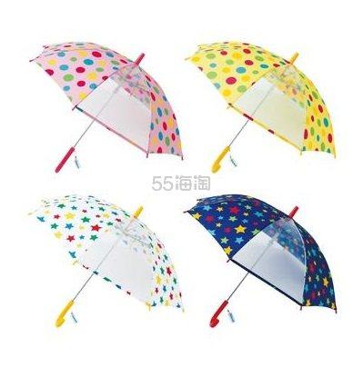 日本儿童安全伞:SKIPLAND 斯克莱 带有透明窗保证视野 儿童伞 55cm 特价1199日元(约76元)