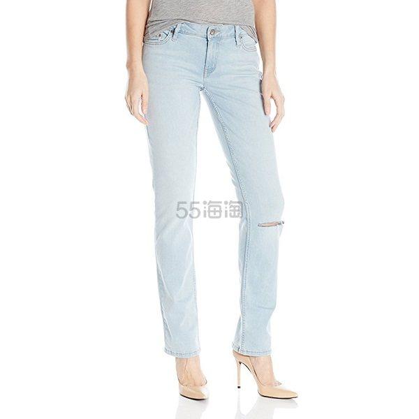 【美亚自营】Calvin Klein Jeans 女士破洞直筒裤 .45(约83元)