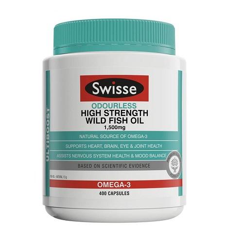 【55专享】Swisse Ultiboost 无腥味高强度野生鱼油 1500mg 400粒 AU.99(约109元)