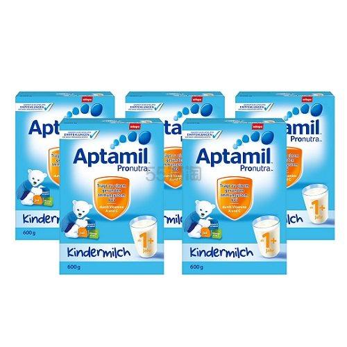 德国直邮!Aptamil 爱他美婴幼儿奶粉 1+ 600g*5盒 59.2欧(约457元)