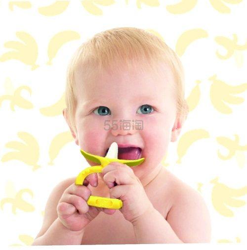 【中亚Prime会员】KJC Edison 磨牙玩具 婴儿吮咬香蕉环(适用年龄为3个月以上) 到手价42元