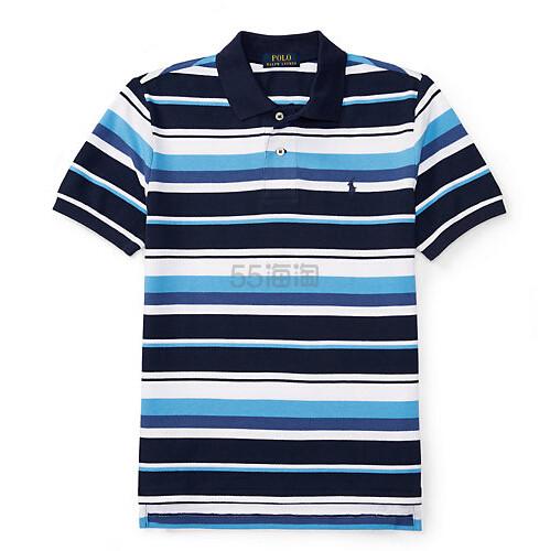 【2.8折!】】Ralph Lauren 拉夫劳伦 男童款(8-20岁)经典小马标条纹 Polo 衫 .85(约80元)